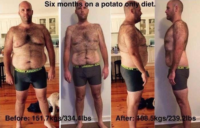 Австралиец целый год питался картофелем и похудел на 50 кг
