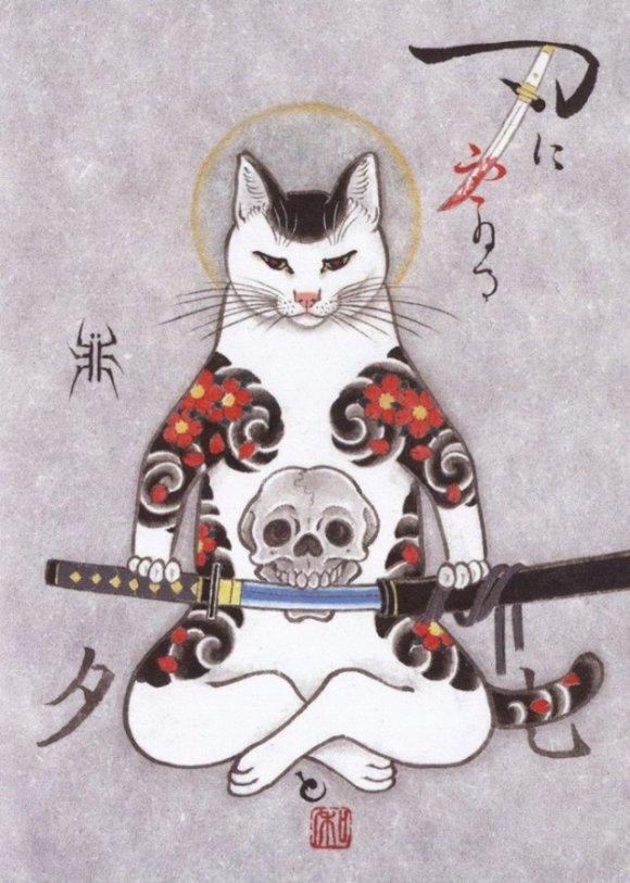 Искусство татуировки по-кошачьи