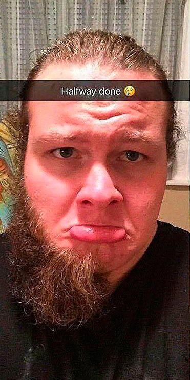 До и после бритья бороды