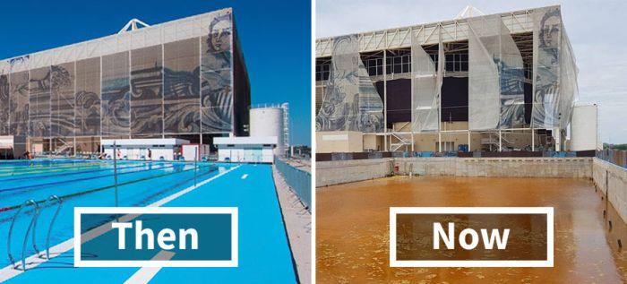 Бразильский стадион Олимпийских игр 2016 спустя 6 месяцев