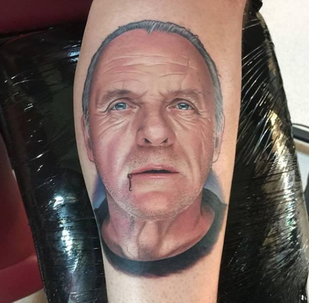 Реалистичные татуировки с изображением известных героев