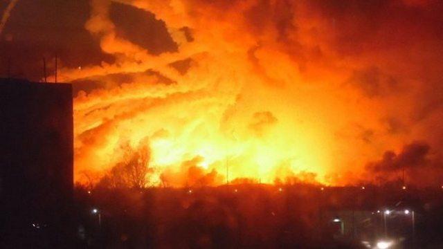 Взрыв на складе боеприпасов под Харьковом
