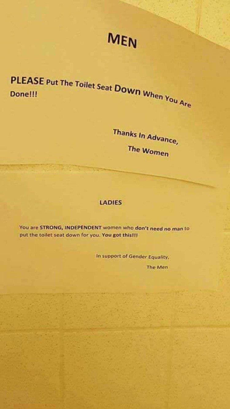 Объявление в общем туалете города Кливленд