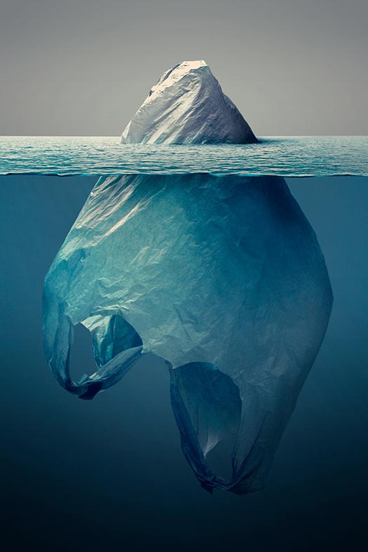 Постер против загрязнения окружающей среды