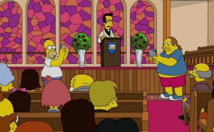 Гомер из «Симпсонов» ловил покемонов в храме