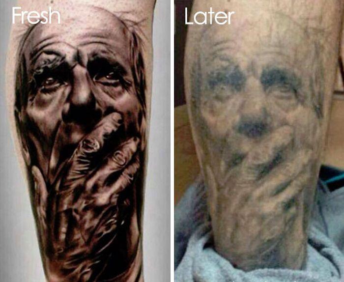Как выглядят татуировки спустя время