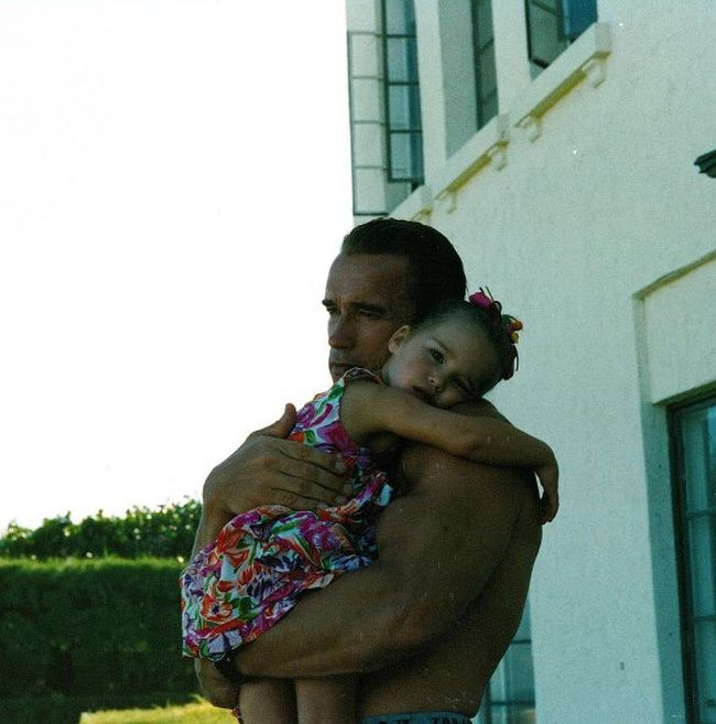 Арнольд Шварценеггер с дочерью Кристиной тогда и сейчас