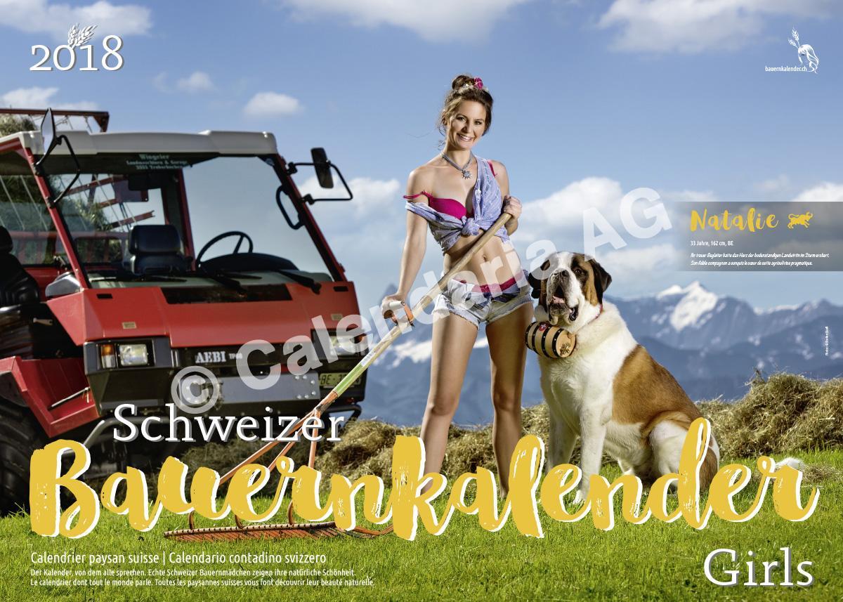Швейцарцы выпустили эротический календарь на 2018 год