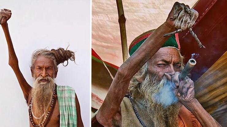 Индийский святой не опускает правую руку с 1973 года