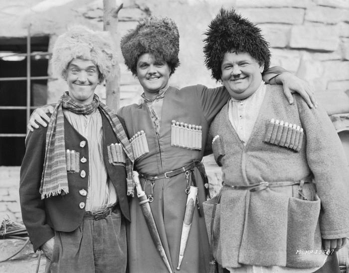 Актеры американской комедии о похищении девушки на Кавказе, 1930 год, США