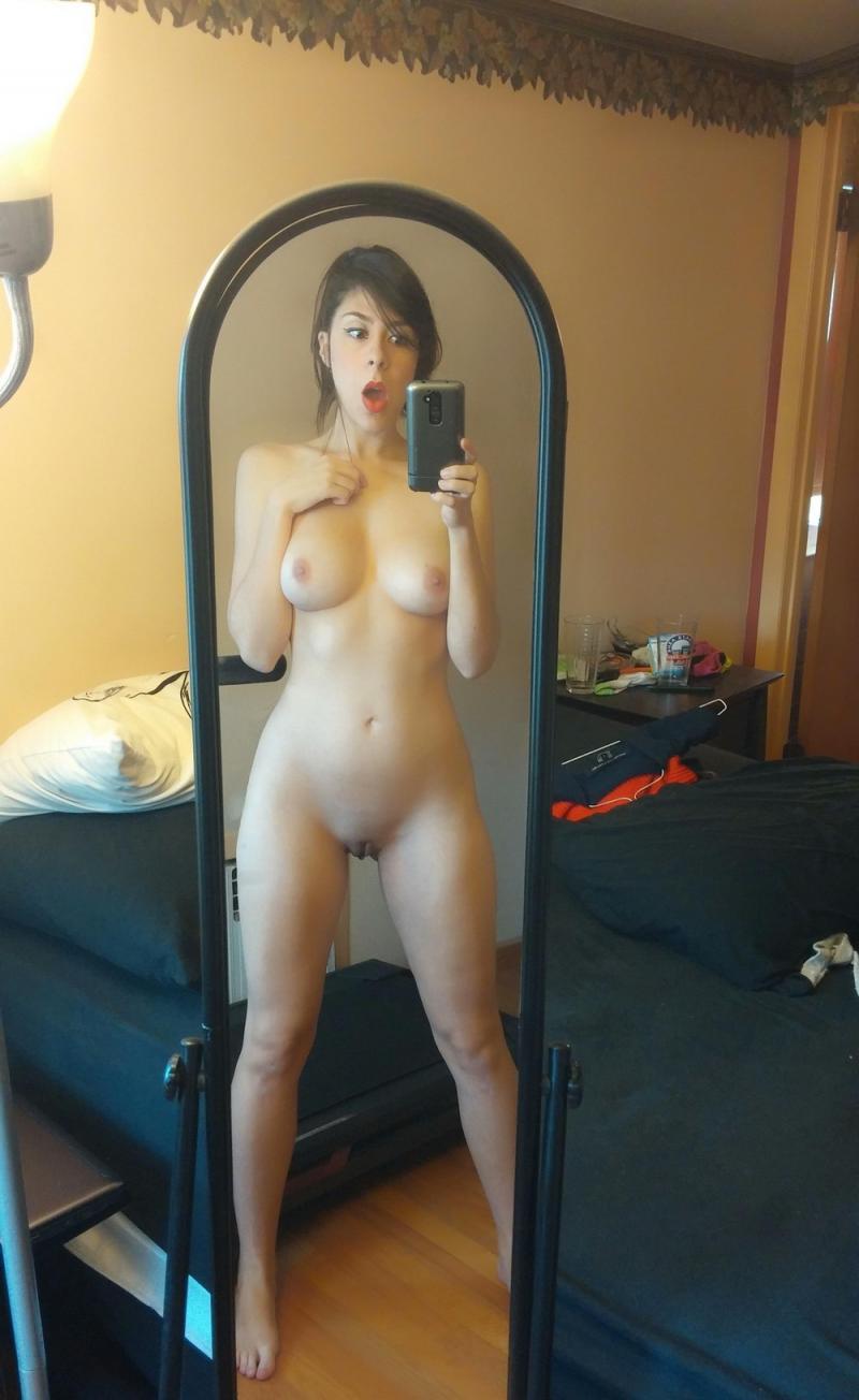 голые девчонки фотографируются дома перед зеркалом